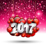 2017 Happy New Year Background for your Seasonal Flyers Royalty Free Stock Image