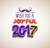 2017 Happy New Year Background for your Seasonal Flyers Stock Images