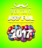 2017 Happy New Year Background for your Seasonal Flyers Royalty Free Stock Photos