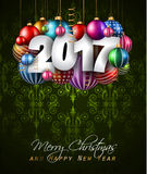 2017 Happy New Year Background for your Seasonal Flyers Royalty Free Stock Images