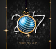 2017 Happy New Year Background for your Seasonal Flyers. And Greetings Card or Christmas themed invitations Royalty Free Stock Images