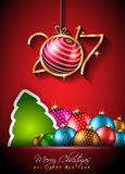 2017 Happy New Year Background for your Seasonal Flyers. And Greetings Card or Christmas themed invitations Stock Photography