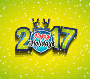 2017 Happy New Year Background for your Seasonal Flyers. And Greetings Card or Christmas themed invitations Royalty Free Stock Image
