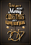 2017 Happy New Year Background. For your Seasonal Flyers and Greetings Card or Christmas themed invitations vector illustration