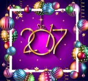 2017 Happy New Year Background. For your Seasonal Flyers and Greetings Card or Christmas themed invitations royalty free illustration
