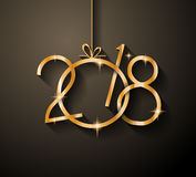 2018 Happy New Year Background for your Seasonal Flyers. And Greetings Card or Christmas themed invitations Stock Images