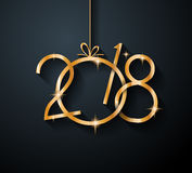 2018 Happy New Year Background for your Seasonal Flyers Royalty Free Stock Photos