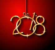 2018 Happy New Year Background for your Seasonal Flyers Stock Photo