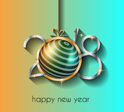 2018 Happy New Year Background for your Seasonal Flyers Stock Photos