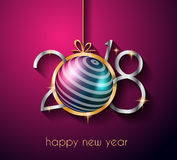 2018 Happy New Year Background for your Seasonal Flyers and Greetings Card Stock Photography
