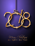 2018 Happy New Year Background for your Seasonal Flyers and Greetings Card Royalty Free Stock Images