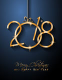 2018 Happy New Year Background for your Seasonal Flyers and Greetings Card Royalty Free Stock Image
