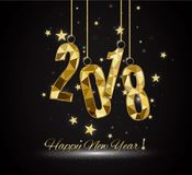 2018 Happy New Year Background for your Seasonal Flyers and Greetings Card or Christmas themed invitations. 2018 Happy New Year Background for your Seasonal Stock Photo
