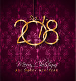 2018 Happy New Year Background for your Seasonal Flyers and Greetings Card. Or Christmas themed invitations Royalty Free Stock Image