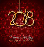 2018 Happy New Year Background for your Seasonal Flyers and Greetings Card. Or Christmas themed invitations Royalty Free Stock Photos