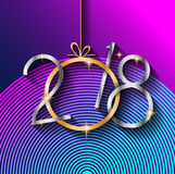 2018 Happy New Year Background for your Seasonal Flyers and Greetings Card Royalty Free Stock Photo