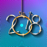 2018 Happy New Year Background for your Seasonal Flyers and Greetings Card Stock Images