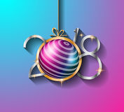 2018 Happy New Year Background for your Seasonal Flyers and Greetings Card Stock Photo