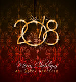 2018 Happy New Year Background for your Seasonal Flyers and Greetings Card Royalty Free Stock Photos