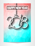 2018 Happy New Year Background for your Seasonal Flyers and Greetings Card. Or Christmas themed invitations Stock Photography