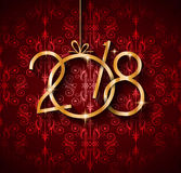 2018 Happy New Year Background for your Seasonal Flyers Royalty Free Stock Image