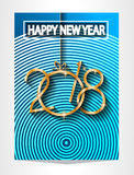 2018 Happy New Year Background for your Seasonal Flyers and Greetings Card or Christmas themed invitations Stock Images