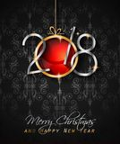 2018 Happy New Year Background for your Seasonal Flyers and Gree. Tings Card or Christmas themed invitations Royalty Free Stock Images