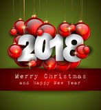 2018 Happy New Year Background for your Seasonal Flyers and Gree. Tings Card or Christmas themed invitations Royalty Free Stock Photo