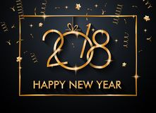 2018 Happy New Year Background for your Seasonal Flyers and Gree. Tings Card or Christmas themed invitations Royalty Free Stock Image