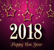 2018 Happy New Year Background for your Seasonal Flyers and Gree. Tings Card or Christmas themed invitations Stock Photos