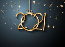 2021 Happy New Year Background for your Seasonal Flyers and Gree. Tings Card or Christmas themed invitations Royalty Free Stock Image