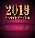 2019 Happy New Year Background for your Seasonal Flyers and Gree Royalty Free Stock Photos