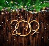 2019 Happy New Year Background for your Seasonal Flyers and Gree royalty free illustration
