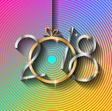 2018 Happy New Year Background for your Seasonal Flyers and Greetings Card Stock Image