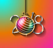 2018 Happy New Year Background for your Seasonal Flyers and Greetings Card. Or Christmas themed invitations Royalty Free Stock Photo