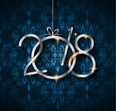 2018 Happy New Year Background for your Seasonal Flyers and Gree Royalty Free Stock Photo