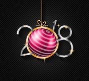 2018 Happy New Year Background for your Seasonal Flyers and Gree Royalty Free Stock Photos
