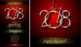 2018 Happy New Year Background for your Seasonal Flyers. And Greetings Card or Christmas themed invitations Stock Photography