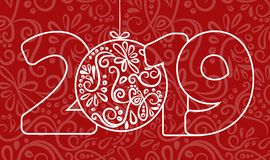 2018 Happy New Year Background for your Seasonal Flyers and Greetings Card or Christmas themed invitations. Vector illustration royalty free illustration