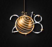 2018 Happy New Year Background for your Seasonal Flyers and Greetings Card. Or Christmas themed invitations Stock Photos