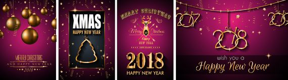 2018 Happy New Year Background for your Seasonal Flyers. 2018 Happy New Year Background for your Seasonal Flyers and Greetings Card or Christmas themed Stock Photography