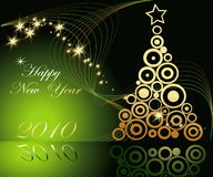 Happy New Year backgrounds. Green and gold  Happy New Year background Stock Images