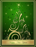 Happy New Year backgrounds. Green and gold  Happy New Year background Royalty Free Stock Photography