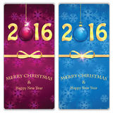 Happy new year backgrounds with Christmas baubles Stock Photos