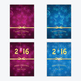 Happy new year backgrounds with Christmas baubles Royalty Free Stock Images