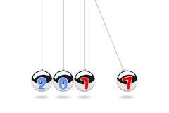 Happy new year 2017, Balancing Balls,Pendulum balls vector illustration royalty free illustration