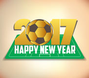 Happy new year 2017 with ball.  Royalty Free Stock Images