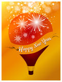 Happy New Year with balloon concept vector illustration