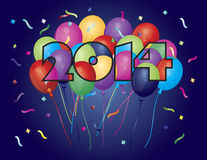 2014 Happy New Year Balloons Stock Photo