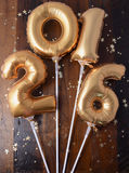 Happy 2016 New Year Balloons Royalty Free Stock Images